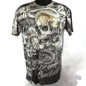 Affliction Xtreme Couture Skull Snake T-shirt